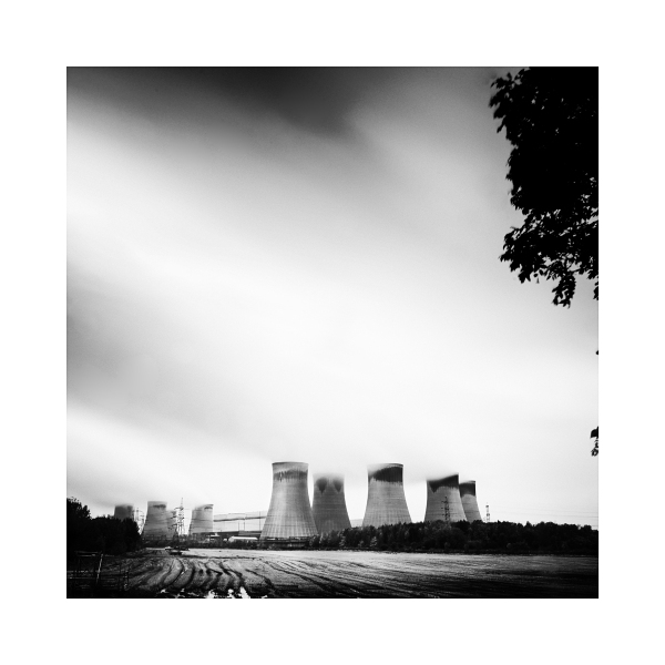 Black & White image of Drax Power Station