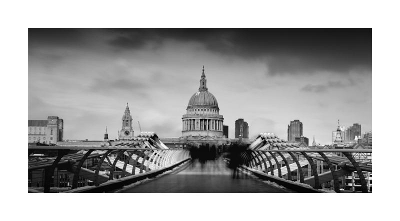 black & White Fine Art image - St Pauls