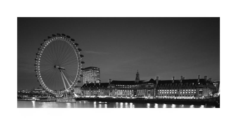 Black & White Fine Art image - The London Eye