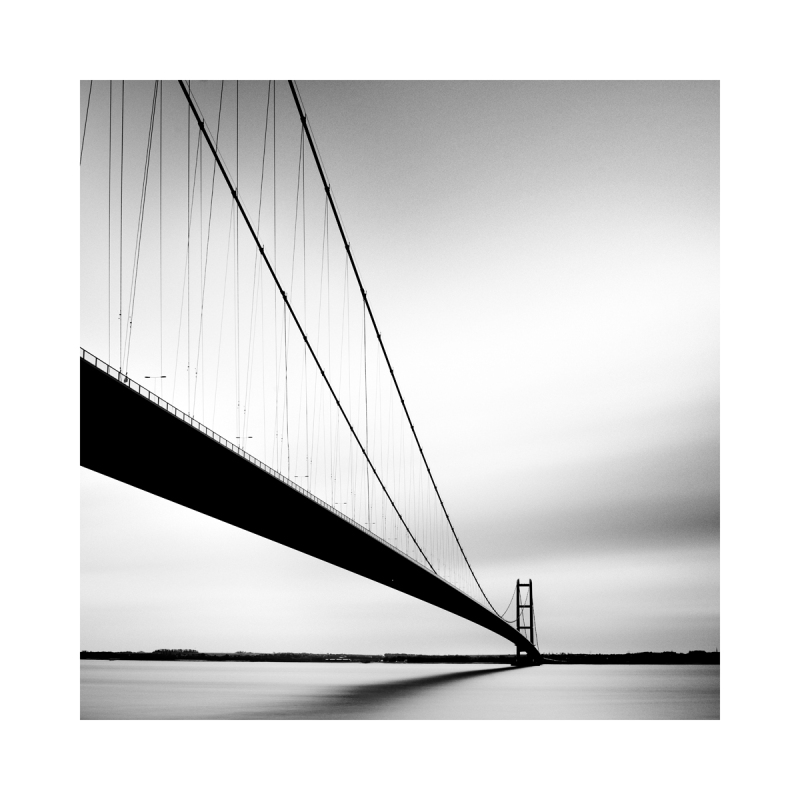 Black & White Fine Art image - Humber Bridge