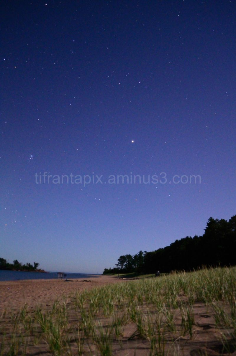 Jupitor and the Pleiades