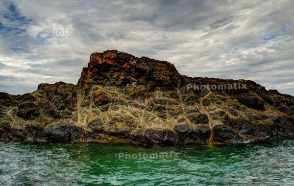 Moody Black Rocks