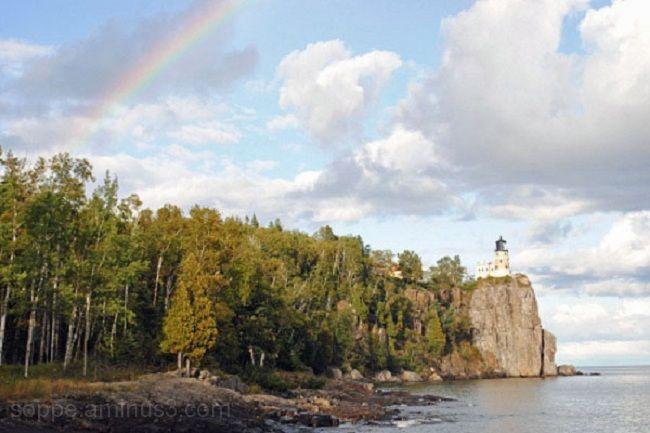 Rainbow at Split Rock