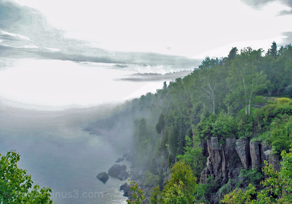 Fog over Lake Superior