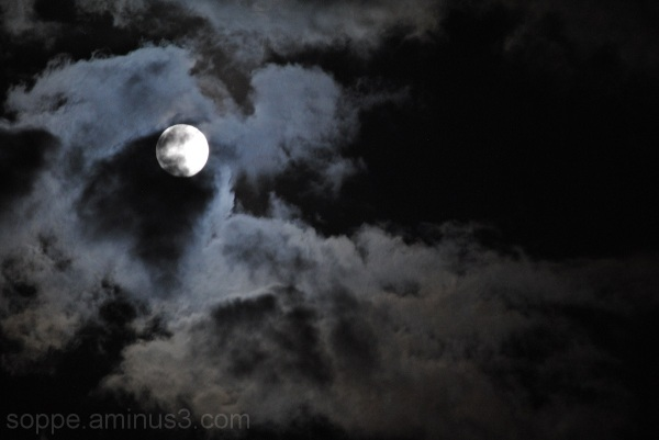 Clouds over Full Moon 2