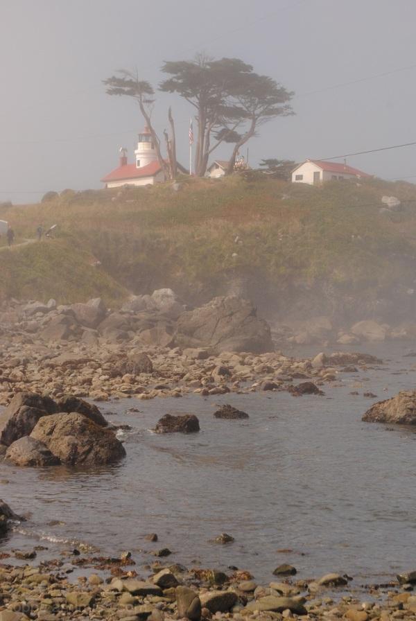 Battery Point, morning fog