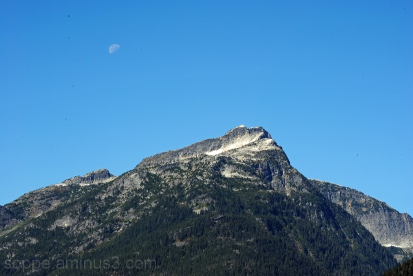 Davis Peak & moon