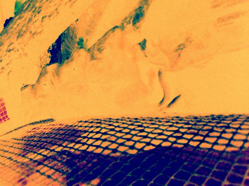 yellow-orange blur desert