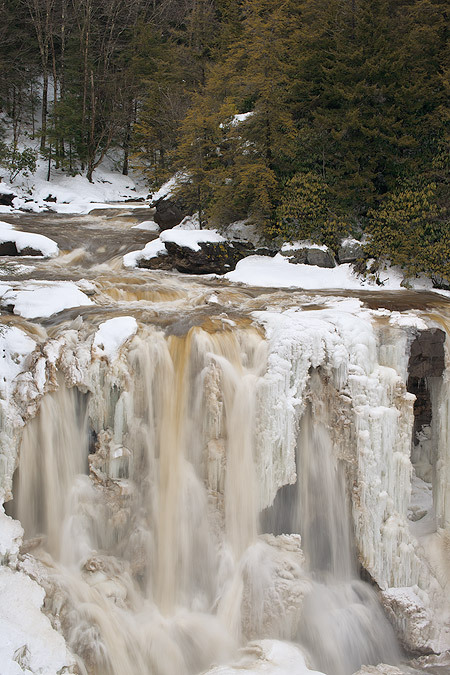 Blackwater Falls with Ice and Snow