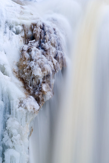 Ice on the waterfalls