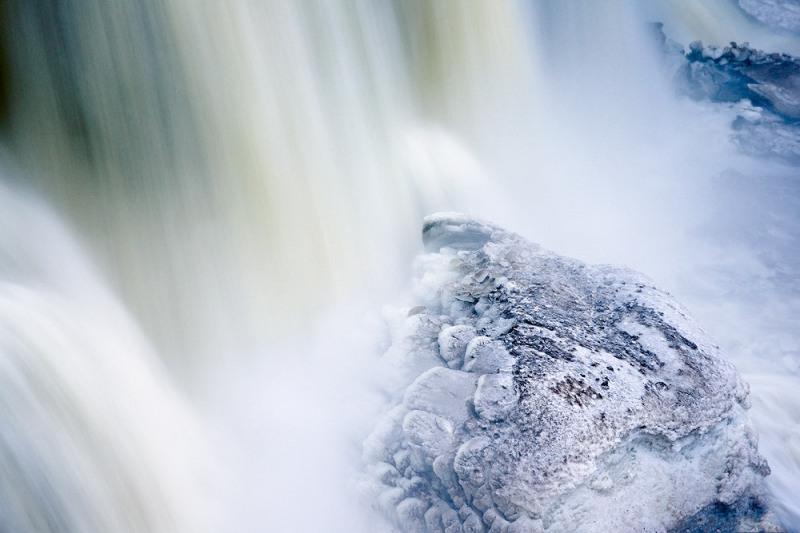 Rock at the Base of Blackwater Falls