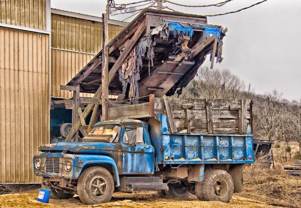 Sawdust truck