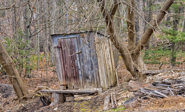 Outhouse at Aaronsburg lumber mill