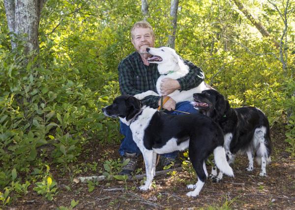 Dan, Lucy, Reggie & Phoebe on Beaver Trail