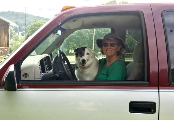 Reggie & Donna in Farm Truck