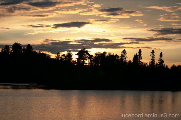 Sunset on Lake Isabella, Minnesota