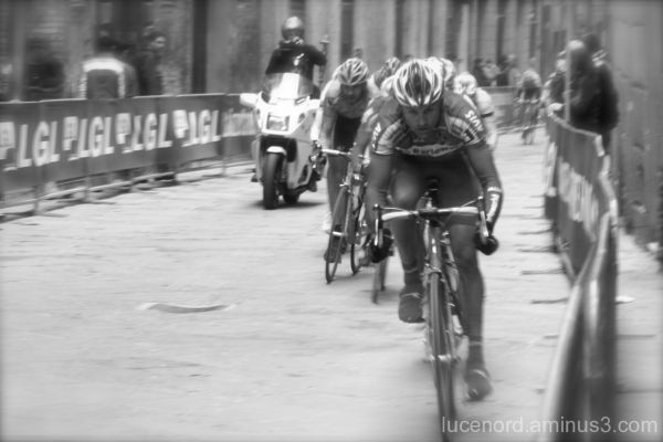Bicycle Race on Streets of Sienna