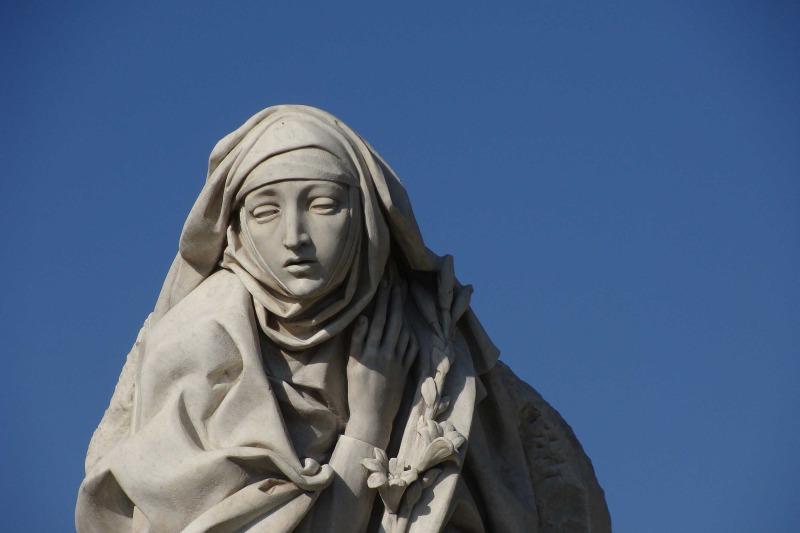 Eén van de vele mooie beelden in Rome