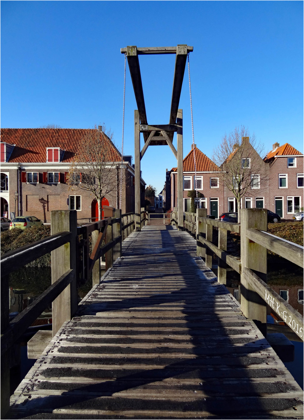 A drawbridge in Brielle