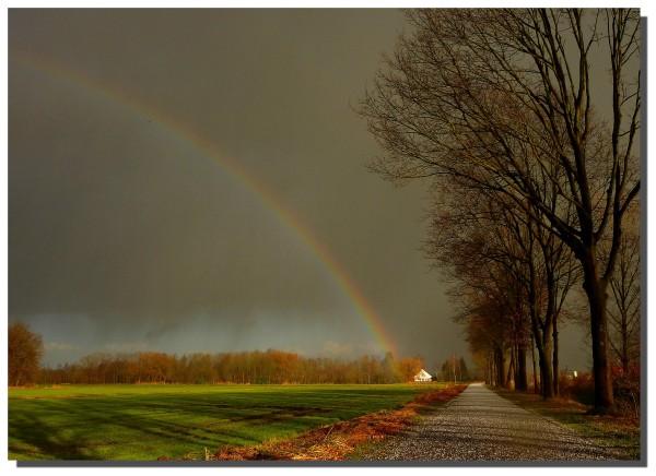 Hail, wind, rain and a rainbow