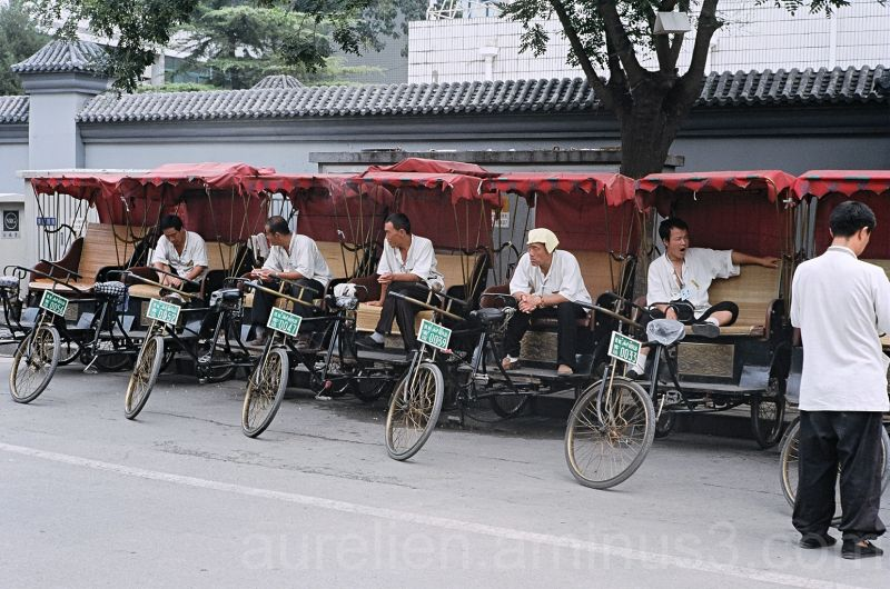 Seven Rickshaw Drivers in beijing