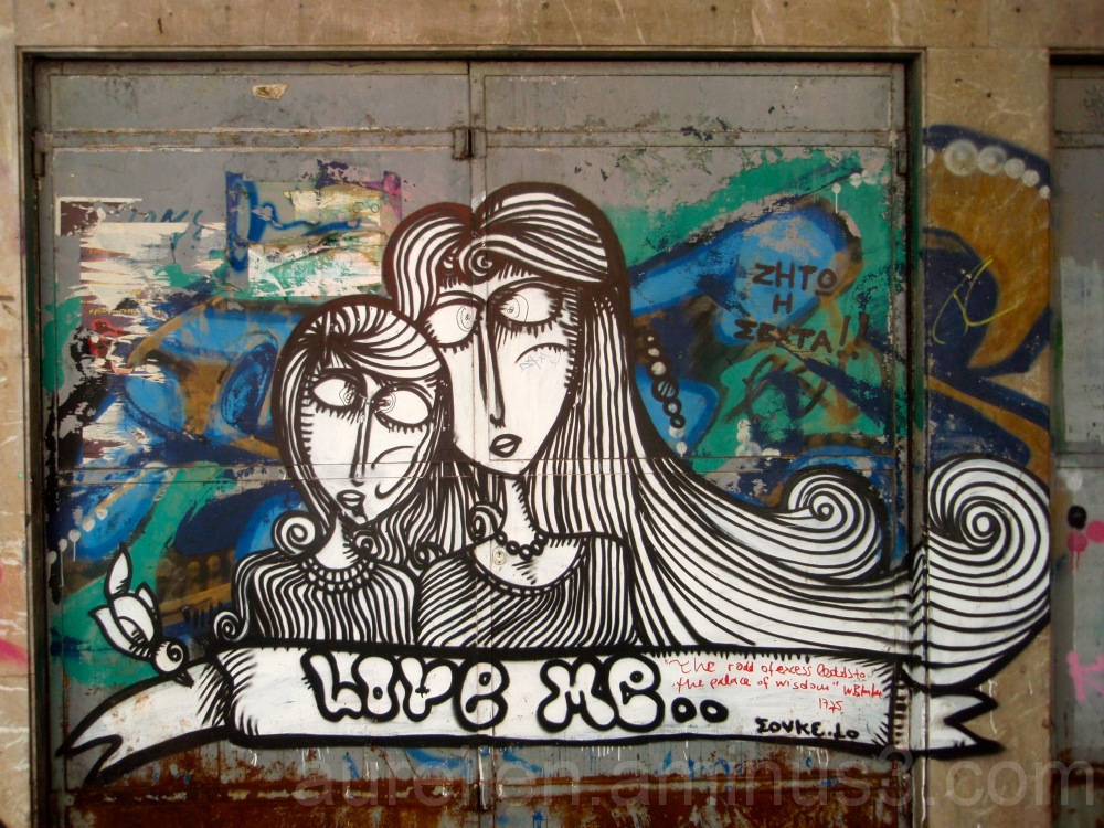 Two Girls and Love in a Graffiti