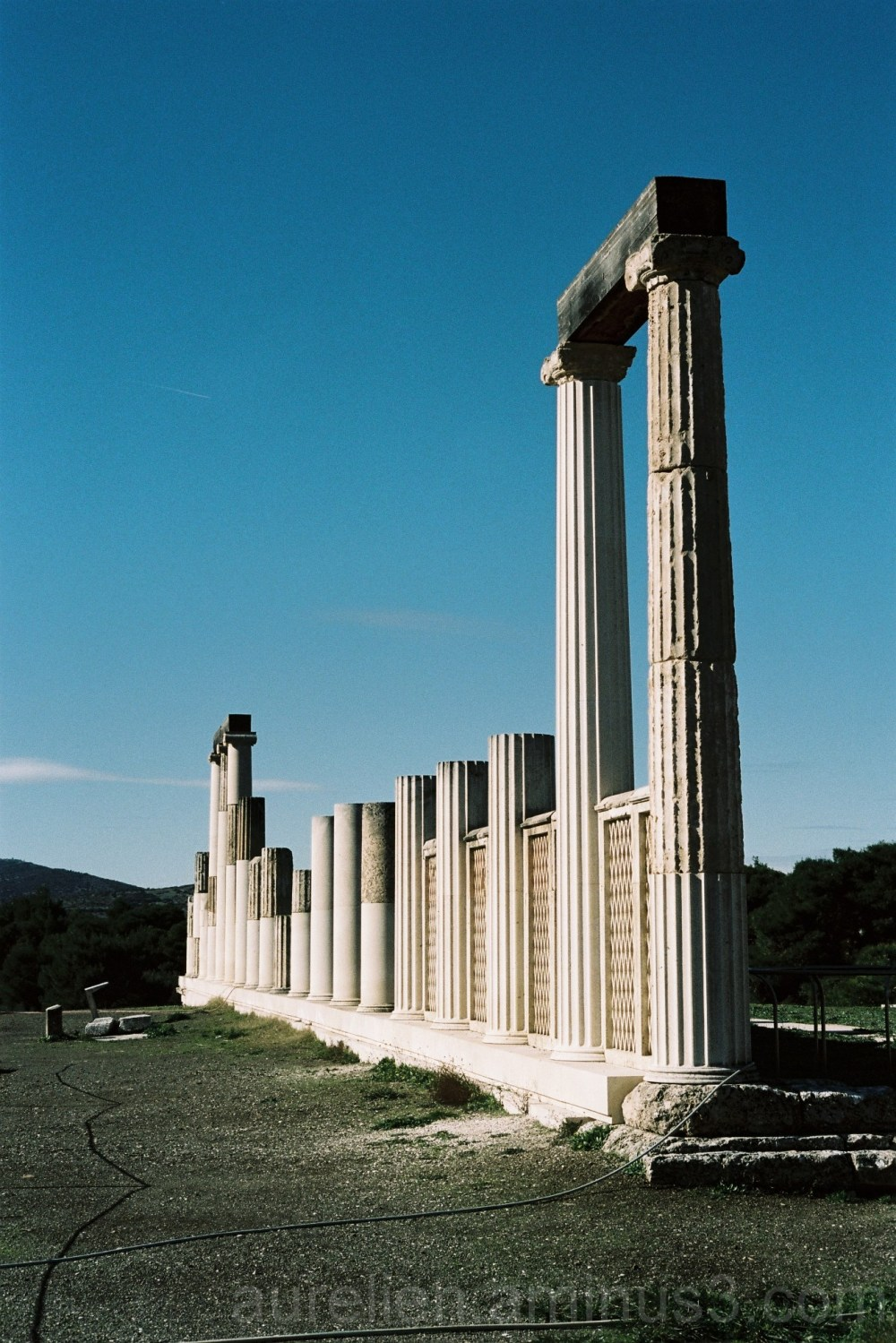 Surrealist View of a Temple in Olympia, Greece