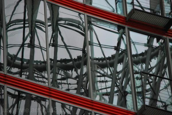 Les reflets du Sony Center