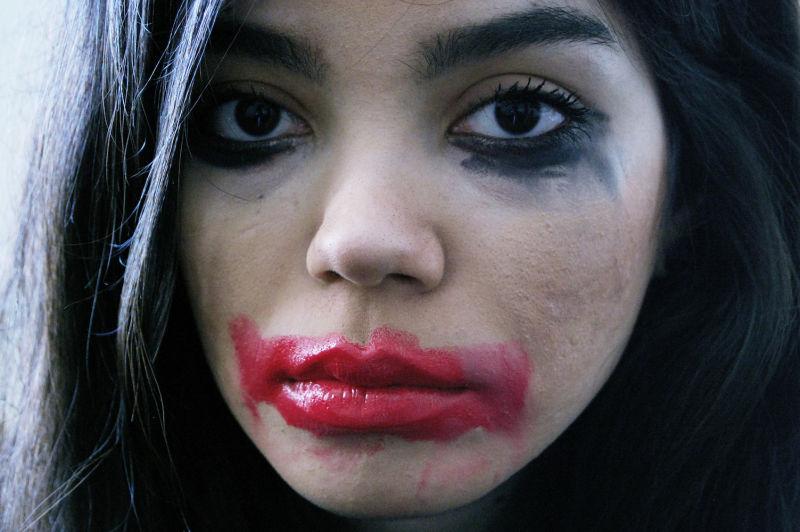 clown, portrait, colors