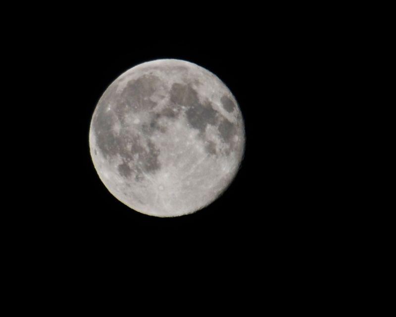 The Moon seen from the Island of Unalaska