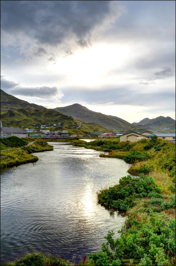 Iliuliuk River in Unalaska