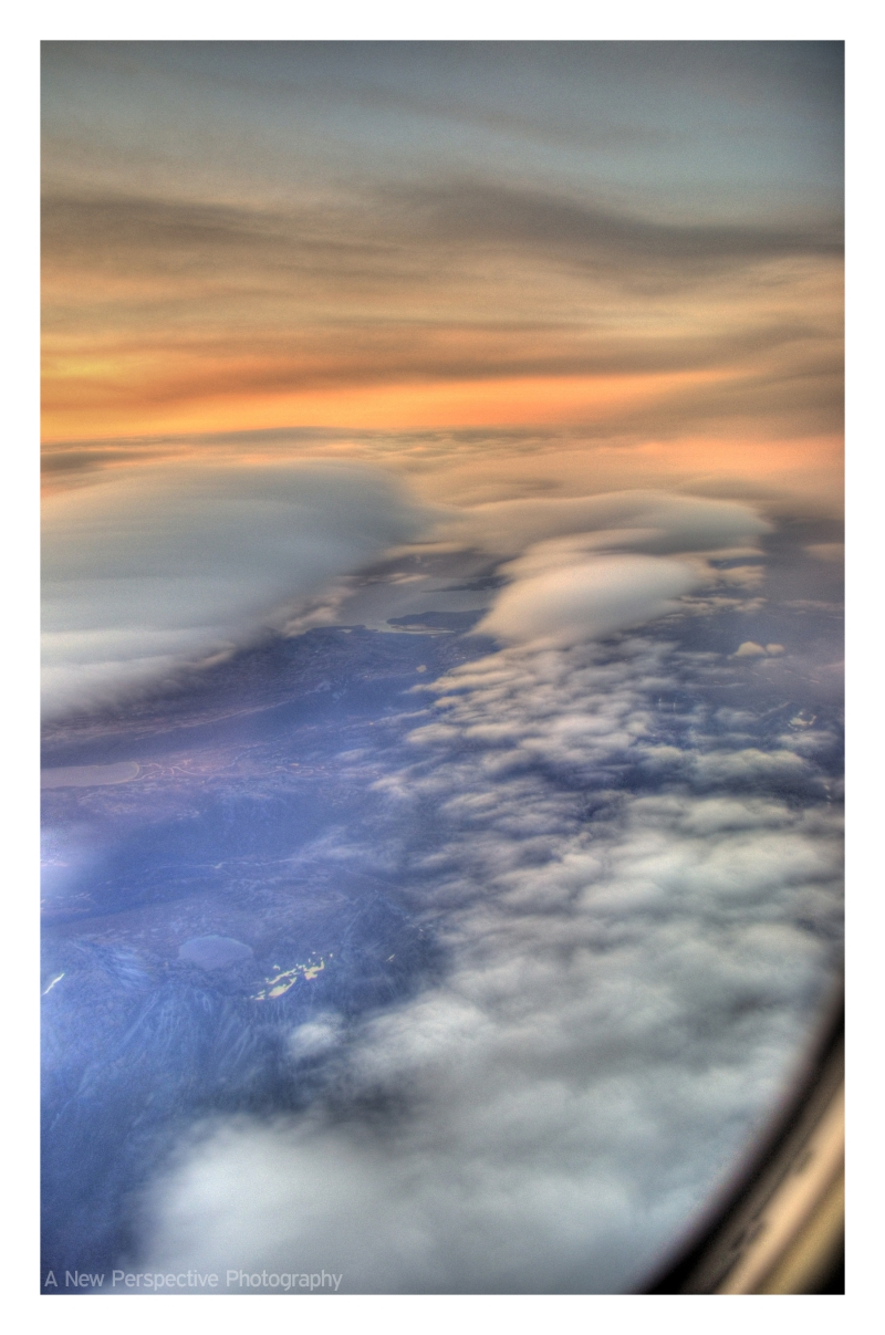 Looking out the window on the flight from Dutch