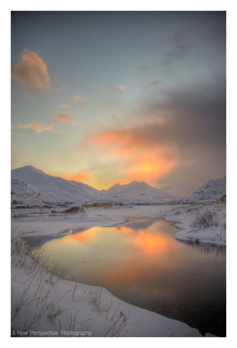 Sunrise in Unalaska Ak.