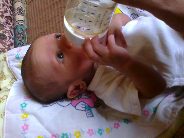 having milk myself