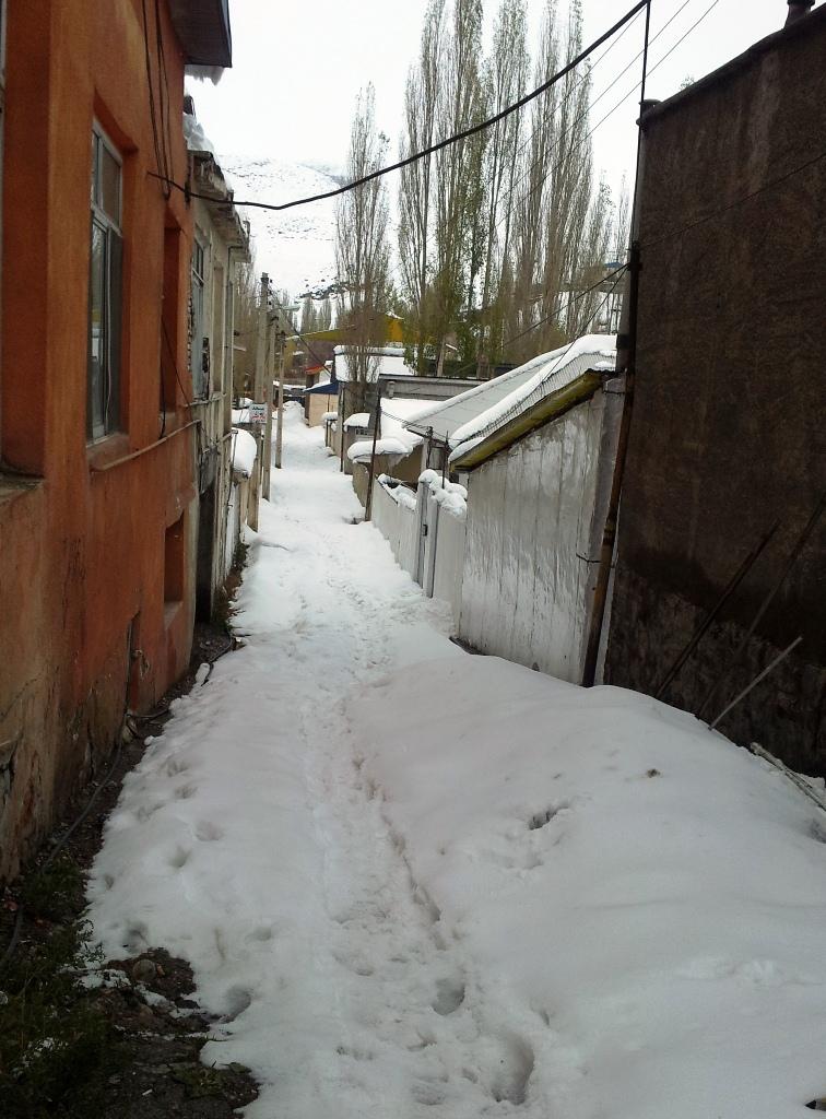 Snow path!