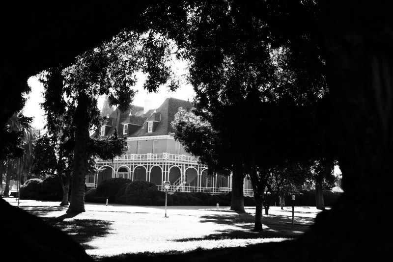 Kearney Mansion Through The Trees