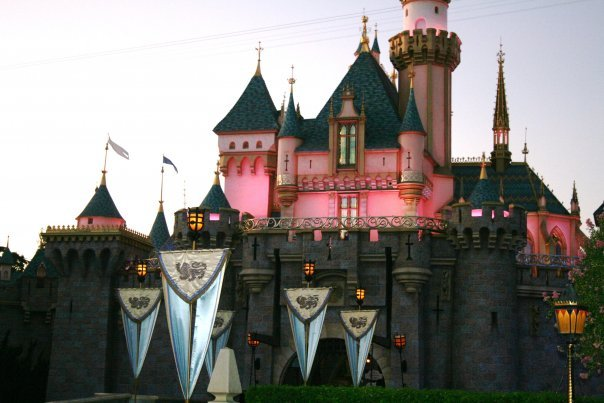 Sleeping Beauty's Castle at Dusk