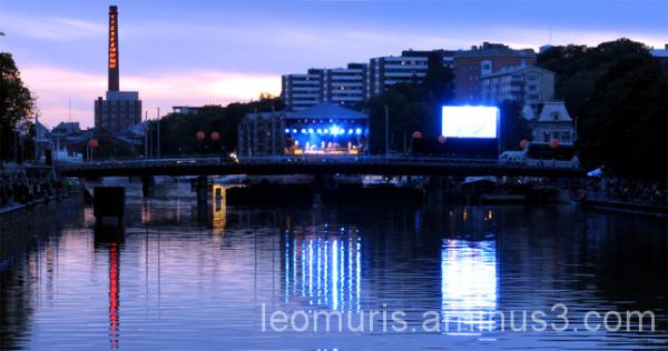 Kaupunki, town, valot, lights