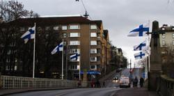 Liput liehuvat, Flags fly