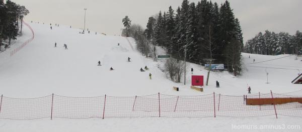 Laksettelua, slalom