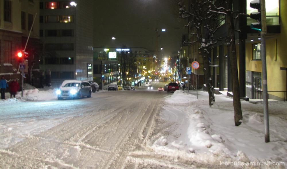 Talvinen ilta - Winter evening.
