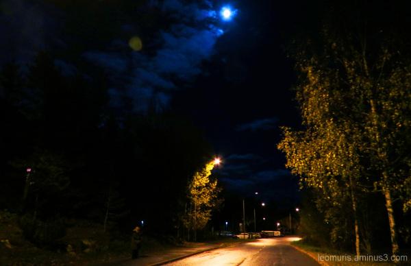 Walker in night