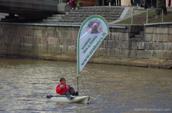 Man in the canoe