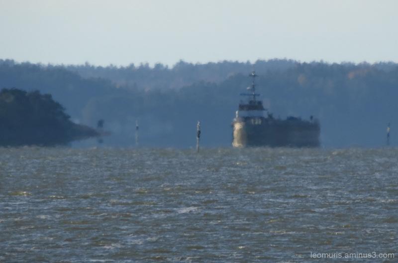 The ship in haze