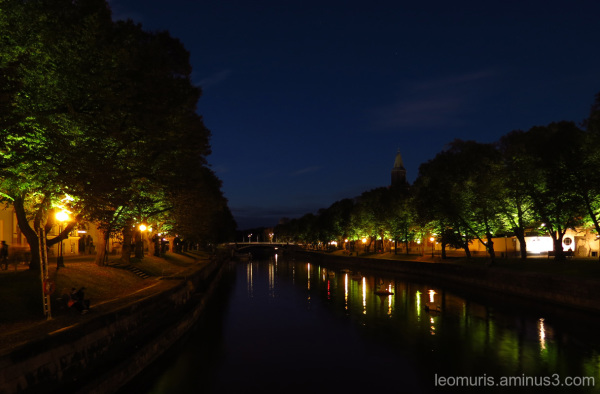 River by evening