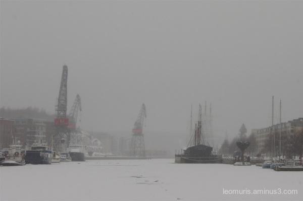 misty river