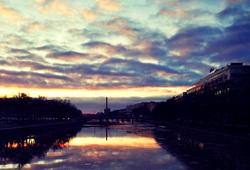 Sunsert on the river