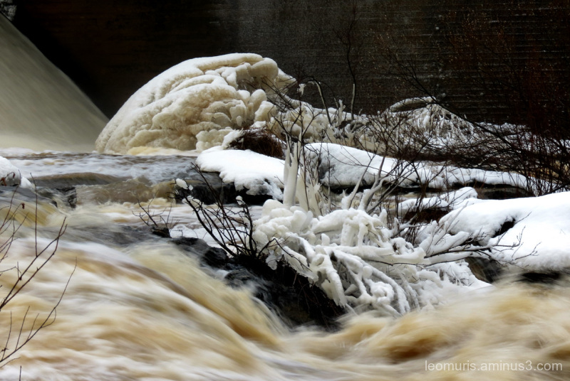 the frost of the rapids.