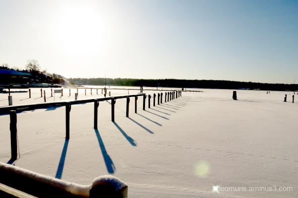 sun, frost, shadows, snow,