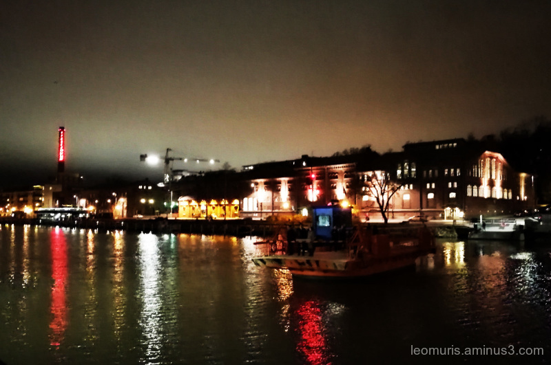 Ferry on the dark river...